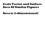 Scale Factor and Surface Area of Similar Figures