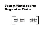 Using Matrices to Organize Data