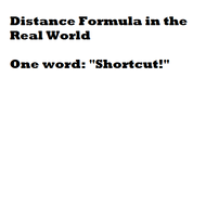 Distance Formula in the Real World