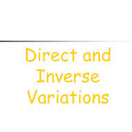 Lesson 6-17 Direct and Inverse Variation (Tues. Night 5/13)