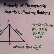 Property of Perpendicular Bisectors: Practice Problems