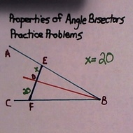 Properties of Angle Bisectors: Practice Problems