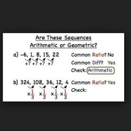 Notes 10-2 Arithmetic and Geometric Sequences
