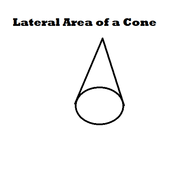 Lateral Area of a Cone