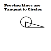 Proving Lines are Tangent to Circles