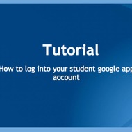 Logging into Google Apps Account for 5th and 6th Graders