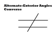 Alternate-Exterior Angles Converse
