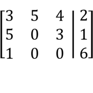 Writing Systems of Equations with Augmented Matrices