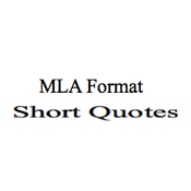 MLA Format: Short Quotes