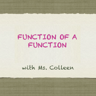 Function of a Function