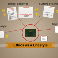 Ethics as a Lifestyle
