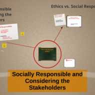 Socially Responsible and Considering the Stakeholder