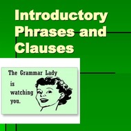 Intro Clauses and Compound Sentences #2