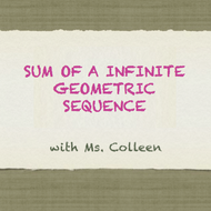 Sum of an Infinite Geometric Sequence