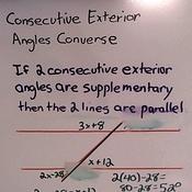 Consecutive-Exterior Angles Converse