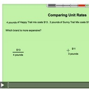 Comparing Unit Rates
