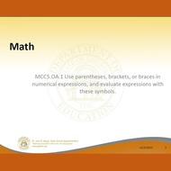 MCC5.OA.1 Order of Operations