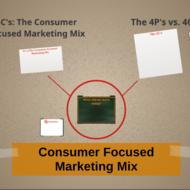 Consumer focused Marketing Mix