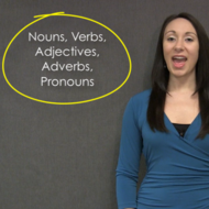 Nouns, Verbs, Adjectives, Adverbs, and Pronouns