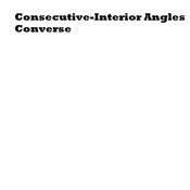 Consecutive-Interior Angles Converse