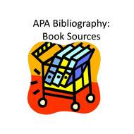 APA Bibliography: Book Sources