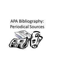 APA Bibliography: Periodical Sources
