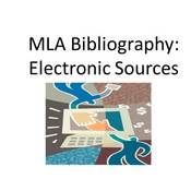 MLA Bibliography: Electronic Sources