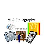 MLA Bibliography: Periodical Sources