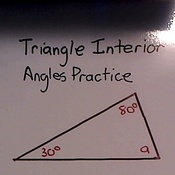 Triangle Interior Angles Practice