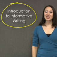 Introduction to Informative Writing