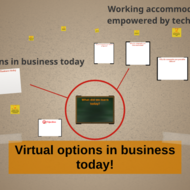 Virtual options in business today!