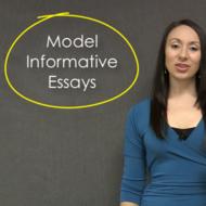 Model Informative Essays