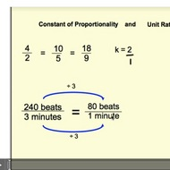 The Constant of Proportionality and Unit Rates