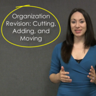 Organization Revision: Cutting, Adding, Moving