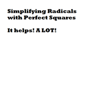 Simplifying Radicals with Perfect Squares