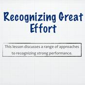 Recognizing Great Effort