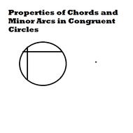 Properties of Chords and Minor Arcs in Congruent Circles