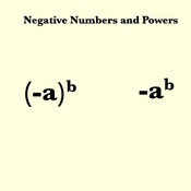 Negative Numbers and Powers
