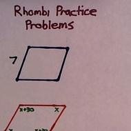 Rhombi Practice Problems