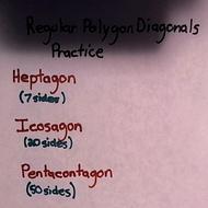 Regular Polygon Diagonals Practice