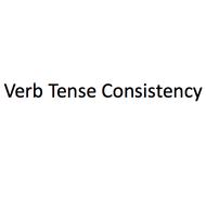 Verb tense consistency