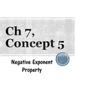 Chapter 7, Concept 5 - Negative Exponent Property