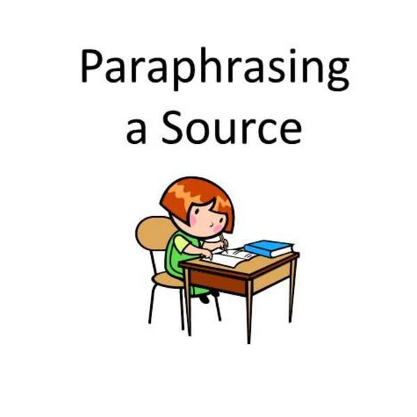 Paraphrasing a Source
