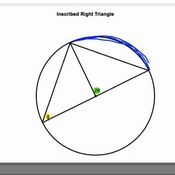 Inscribed Right Triangle
