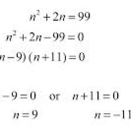 A1.9.6 Solving Quadratic Equations by Factoring