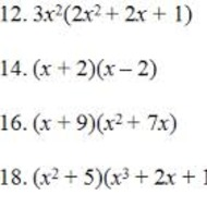 A2.5.1 Operations with Polynomials