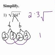 Simplifying Radicals - BASIC