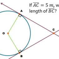 Two Lines Tangent to a Circle