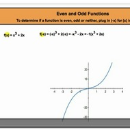 Even and Odd Functions
