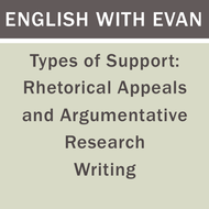 Types of Support: Rhetorical Appeals and Argumentative Research Writing